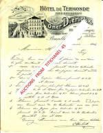 Facture Illustrée De 1904 - BRUXELLES - Omer DIERICKX - HOTEL DE TERMONDE - Café-restaurant - Non Classificati