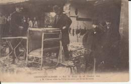14 CPA - GRANDCAMP LES BAINS RAZ DE MAREE  1909 VISITE DE M.CHERON DANS LES VILLAS - Frankreich