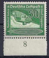 Reich - Poste Aérienne YT N°58 ** Bdf  / Deutsches Reich Luftpost Mi.Nr. 670 ** Unterrand - Airmail
