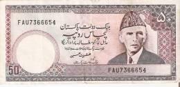 BILLETE DE PAKISTAN DE 50 RUPIAS (BANK NOTE) - Pakistán
