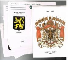 1980 - 150° Anniversaire De L´Indépendance De La Belgique - Armoiries Des Provinces - Cartes Illustrées