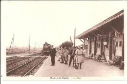 "MILITARIA 10 BELLE CPA ""MAILLY"" (LA GARE) (LOCOMOTIVE A L'ARRIVéE) - Stations - Met Treinen"