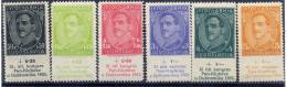 YUGOSLAVIA 1933 PEN Club Congress MNH / **.  Michel 249-54 - Unused Stamps