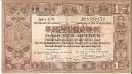 BILLETE DE HOLANDA DE 1 GULDEN DEL AÑO 1938  (BANKNOTE) - [2] 1815-… : Kingdom Of The Netherlands