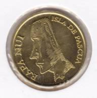 @Y@   Eastern Island / Paaseiland  5 Pesos 2007   RARE   (  Item 2002 ) - Monedas