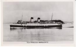 T.E.V. Princess Marguerite Canada Ferry Steamer, C1940s Vintage Real Photo Postcard - Paquebote