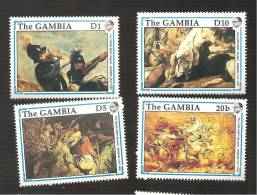 - 2923 A -  Nrs 987/90 - Gambie (1965-...)