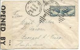 1940 Zensurbrief Von Palm Beach USA In Die Schweiz - United States