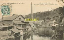 Cpa 27 Thibouville, Filature De Coton, Groupe D'ouvriers Près De L'eau, Affranchie 1906 - France