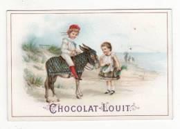 Chromo  CHOCOLAT LOUIT   Enfants Et Ane à La Plage - Louit