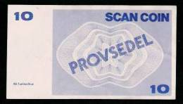 "Test Note ""SCANCOIN - AB TUMBA"", 10 Units, Beids. Druck, RRRRR, UNC, Provsedel 120 X 68 Mm, Typ A - Schweden"