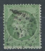 Lot N°20645  N°20a Vert Foncé, Oblit GC 2656 NICE (87), - 1862 Napoleon III