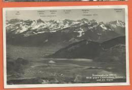 C0387 Rossbergkulm Blick Gegen Lauerzersee,Schwyz Und Die Alpen. Goldau 1931. Gaberell 13327 - ZG Zoug