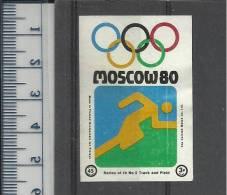 TRACK AND FIELD LEICHTATHLETIK ATHLETICS OLYMPIC GAMES MOSCOW 1980 Finnish Matchbox Label Issued By The Cornish Match Co - Jeux Olympiques
