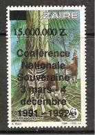Zaire / Congo Kinshasa / RDC - Surcharge Non Cataloguée Sur COB 1253  - WWF - MNH / ** 1992 - Ohne Zuordnung