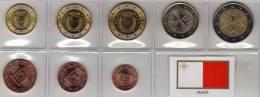 EURO-Einführung Malta 2008 Stg 24€ Stempelglanz Der Staatlichen Malteser Münze Set 1C. - 2€ Coin Of Maltesische Republik - Malta