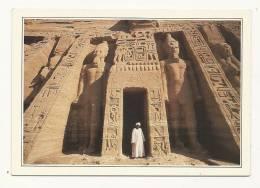Cp, Egypte, Petit Temple D'Abu Simbel,  Voyagée 1989 - Abu Simbel