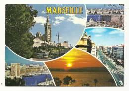 Cp, 13, Marseille, Multi-Vues, Voyagée - Non Classificati