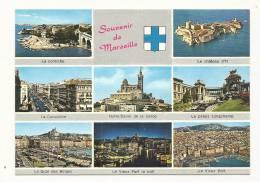 Cp, 13, Marseille, Mlti-Vues, Voyagée - Non Classificati
