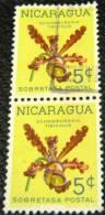 Nicaragua 1962 Flowers Orchid 5c X2 - Used - Nicaragua