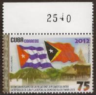 Timor Flag - MNH Stamp From Cuba - Osttimor