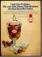 Reklame Werbeanzeige  Lindt Pralinen - Glas-Praliniere , Von 1976 - Andere Sammlungen
