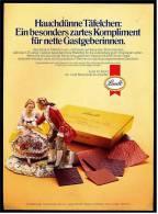 Reklame Werbeanzeige  Lindt Pralinen - Hauchdünne Täfelchen , Von 1977 - Andere Sammlungen