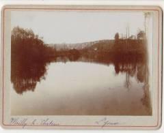 PHOTO 89 MAILLY LE CHATEAU Vue Sur L´Yonne Période Fin XIX° Format 12.5 X 9.5 Cms Rare - Places