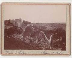 PHOTO 89 MAILLY LE CHATEAU Château Et Les Roches Période Fin XIX° Format 12.5 X 9.5 Cms Rare - Places