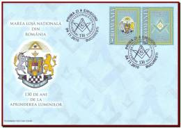 Romania 2010 - Freemasons Grand Lodge, FDC, Mi 6475-76, Romanian Freemasonry Heraldry - Franc-Maçonnerie