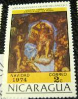 Nicaragua 1974 Christmas 500 Anniversary Of Michelangelo 2c - Used - Nicaragua