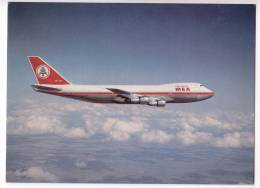 TRANSPORT AIRPLANES MEA BOEING 747 MIDDLE EAST AIRLINES BIG POSTCARD - 1946-....: Moderne