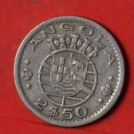 ANGOLA  2,5  ESCUDOS  1956   KM# 77  -    (1261) - Angola