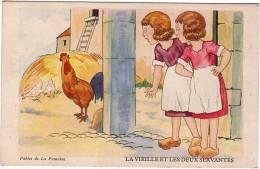 FABLES / LA FONTAINE / Fables De La Fontaine / La Vieille Et Les Deux Servantes / Au Verso La Fable. - Contes, Fables & Légendes