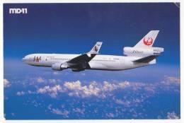TRANSPORT AIRPLANES MD-11 JAL JAPAN AIRLINES JAPAN BIG POSTCARD - 1946-....: Moderne