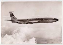 TRANSPORT AIRPLANES BOEING 707 JET INTERCONTINENTAL LUFTHANSA GERMANY  BIG POSTCARD - 1946-....: Moderne