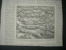 F  729   CHARENTON BOIS DE VINCENNES CONFLANS  ETC...MONUMENTS ROMAIN EN 1575     GRAVURE  & DESSIN  D EPOQUE - Historical Documents