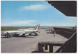 TRANSPORT AERODROMES LEONARDO DA VINCI FIUMICINO ROMA ITALY BIG POSTCARD - Aerodrome