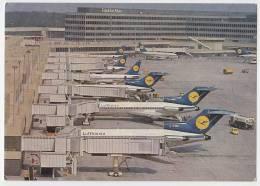 TRANSPORT AERODROMES FRANKFURT AM MAIN GERMANY BIG POSTCARD 1976. - Aerodrome
