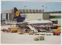 TRANSPORT AERODROMES FRANKFURT AM MAIN GERMANY BIG POSTCARD 1978. - Aerodrome