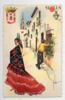 FANTAISIE-17325-SEVILLA-------Carte Brodée - Bestickt