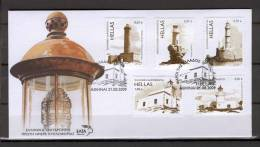 Greece 2009 Lighthouses FDC - Faros