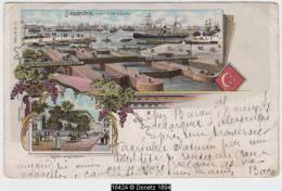 16424g ALEXANDRIE - Port Et Ecluses - Eglise Anglicana - 1900 - Litho - Mosaïque - Alexandrie