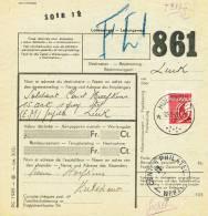 355/20 -  Formule De Colis Militaire 1939 Cachet RELAIS à Etoiles HULSHOUT - Ferrocarril