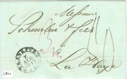 VOORLOPER HANDGESCHREVEN BRIEF Uit 1847 Van FRANKFURT Via GK ARNHEM Naar DEN HAAG  (6860) - [1] ...-1849 Préphilatélie
