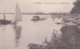 CPA 33  LORMONT ,vue Sur La Garonne - Le Débarcadère. (animée...) - Other Municipalities