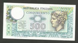 REPUBBLICA ITALIANA - 500 Lire - MERCURIO (Decr. 14/02/1974) Serie A 08 - RARA - [ 2] 1946-… : Repubblica