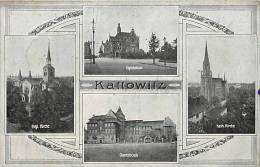 pologne - ref 119- kattowitz  -carte bon etat  -
