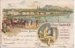5857 - Publicité Plüss-Staufer-Kitt  Luzern  En 1899 Schweizer Ansichten   Litho - LU Lucerne