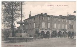 81 TARN DOURGNE Arcades De La Ville, Tabac, Pharmacie  21 - Dourgne